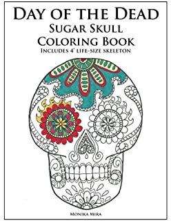 Amazoncom Sugar Skulls Design  Coloring Book 9781497456761
