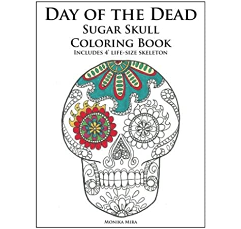 Adult Coloring Book: 30 Day Of The Dead Coloring Pages, Día De Los ... | 450x474