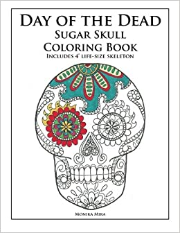 day of the dead sugar skull coloring book - Skull Coloring Book