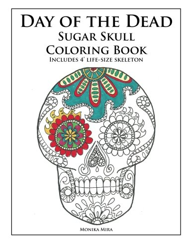 Day of the Dead Sugar Skull Coloring -