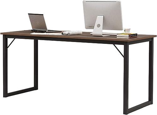 DlandHome 63 inches Large Walnut Computer Desk