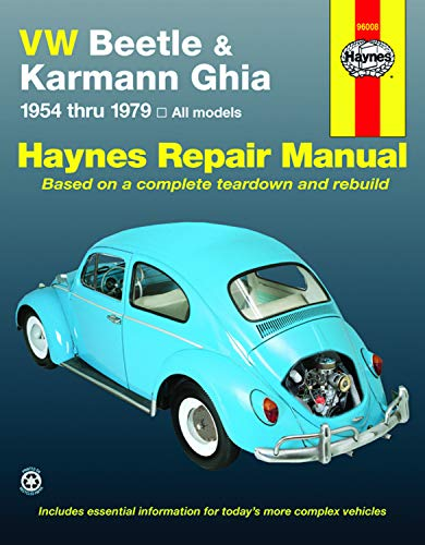 - VW Beetle & Karmann Ghia 1954 through 1979 All Models (Haynes Repair Manual)