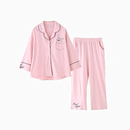 85b74bdb46 Image Unavailable. Image not available for. Color  HUIFANG Pajamas Autumn  and Winter Couple ...