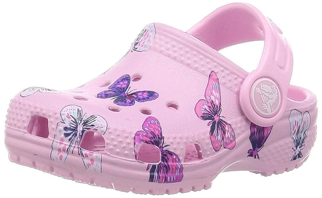 Crocs Classic Butterfly Clog PS Infradito per Il Tempo Libero e Abbigliamento Sportivo Unisex per Bambini