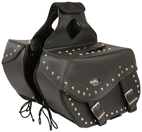 Milwaukee SH553ZB-BLK-PCS Black Large PVC Zip-Off Bag with Studs (15X12X7X22)