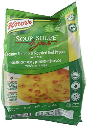 Best Tomato Soup - Knorr Soup du Jour Mix Creamy Tomato and Roasted Red Pepper 17.1 ounces 4 count