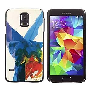 rígido protector delgado Shell Prima Delgada Casa Carcasa Funda Case Bandera Cover Armor para Samsung Galaxy S5 SM-G900 /Art Colorful Splashes/ STRONG