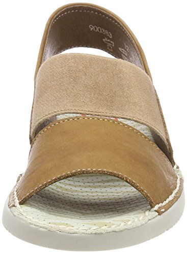 Softinos Tai383sof Washed, Sandali con Chiusura sul Retro Donna marrone