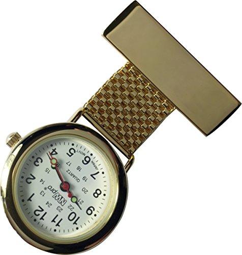 NW-Pro Lapel Nurse Watch - White Dial - Water Resistant - Braided Wide - - Hr Wrist 24 Watch