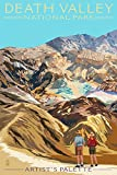 Artist's Palette - Death Valley National Park (12x18 Collectible Art Print, Wall Decor Travel Poster)