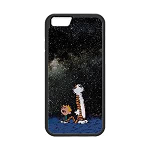Calvin and Hobbes Starry Night iPhone 6 Plus 5.5 Inch Cell Phone Case Black VC959102