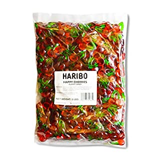 Haribo Gummi Candy, Happy Cherries, 5- Pound Bag (B000EVT04M)   Amazon Products