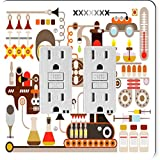 Rikki Knight 8873 Gfidouble Pharmaceutical Medical Factory Illustration Design Light Switch Plate
