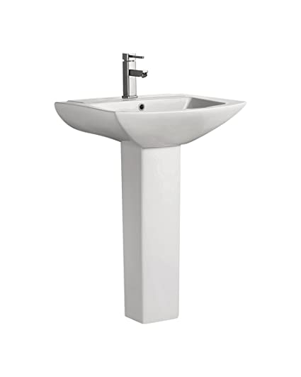 Swiss Madison SM-PS306 Pedestal Bathroom Sink Single Faucet Hole ...