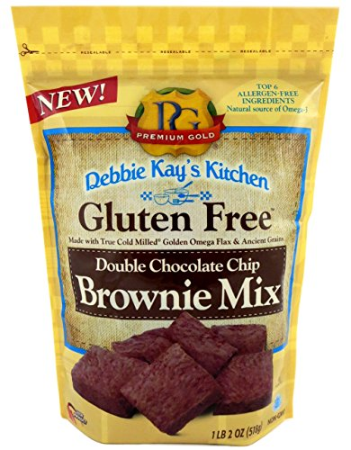 Cheap Premium Gold Gluten Free Double Chocolate Chip Brownie Mix | 18oz