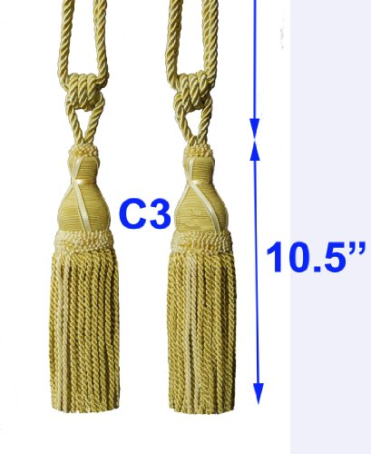 One Pair Decorative Designer's Extra Heavy Long Tie-back Backs #C3 Curtains/drape Tassels Tapestry Wall ()
