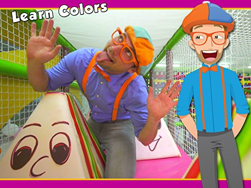 Blippi Plays and Learns at the Indoor Playground - Learn Colors and More