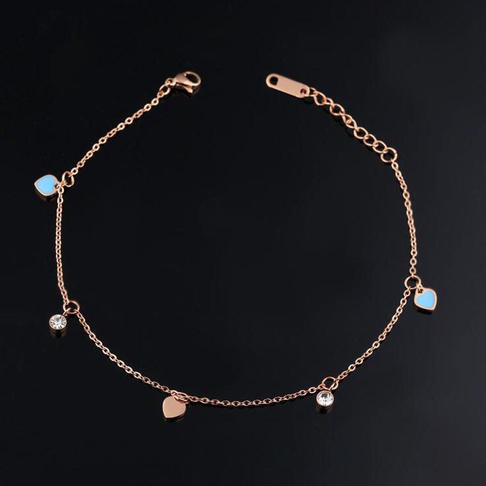 Daisy Jewelry Heart Anklet Bracelet Beach Boho Adjustable Foot Jewelry Chain
