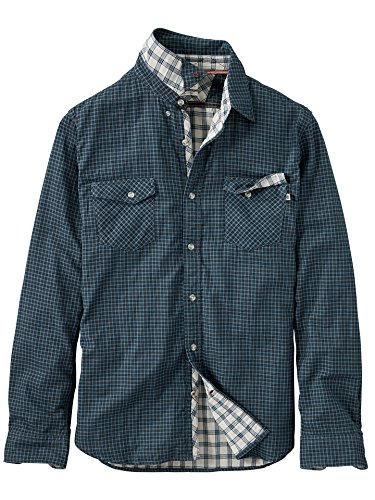 Timberland Long Sleeve Plaid (Timberland Men's Branch River Double Layer Plaid Shirt, Orion Blue Yd, Large)