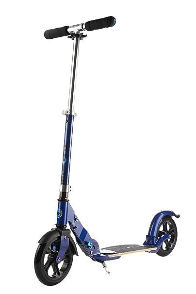 Micro Flex - Patinete 2 Ruedas 200 (Neumáticas o Poliuretano), Adultos. Plataforma Madera Tipo Skate Antideslizante. 4,85kg, Carga Máx 100kg. Altura ...