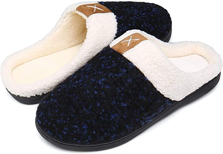 Women Plush Lining Slipper Home House Shoes Slipper Memory Foam Slipper Slip on