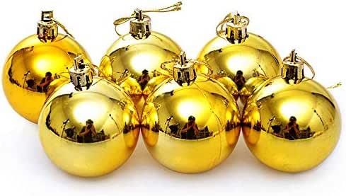 Hanselhome 30 Bolas de Navidad Dorada Bolas de árbol de Navidad Decoración de Bolas Navideños (Dorada, 5 cm): Amazon.es: Hogar