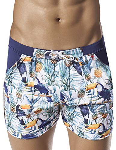 Clever 0600 Toucan Beach Swimsuit Trunk Color Blue Size Large