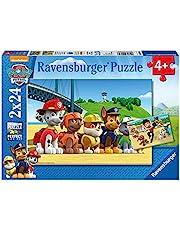 Ravensburger 09064-2x24 bitar Barnpussel från 4 år - Paw Patrol - Hjältehundar - en rolig aktivitet för familjen och barnen