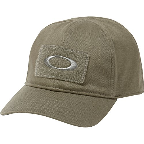 Oakley Men's Si Cotton Cap, Worn Olive, S/M (Fitted Hats With Patch)