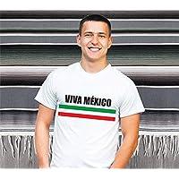 1WEN! Viva México caballero, varias tallas, blanca