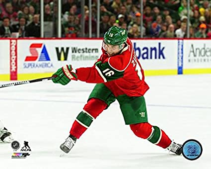 timeless design 82ce4 dcbf0 Amazon.com: Jason Zucker Minnesota Wild Action Photo (Size ...