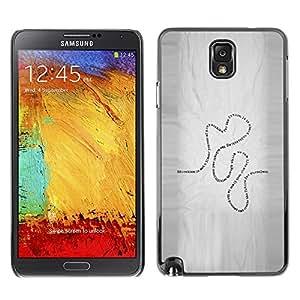 TopCaseStore / la caja del caucho duro de la cubierta de protección de la piel - Present Life Education Learning Quote Road - Samsung Galaxy Note 3 N9000 N9002 N9005