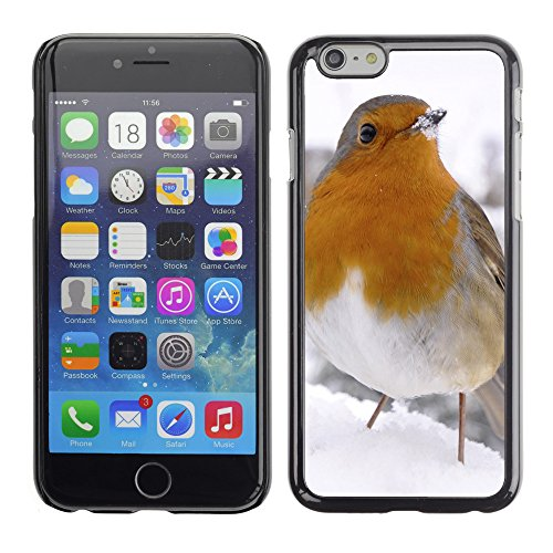 Premio Sottile Slim Cassa Custodia Case Cover Shell // V00003834 petit oiseau dans la neige // Apple iPhone 6 6S 6G 4.7""