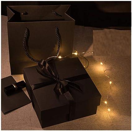 Caja de regalo de Navidad, exquisita caja de regalo rectangular ...