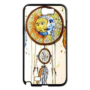 DIY Samsung Galaxy Note 2 N7100 Case, Zyoux Custom New Fashion Samsung Galaxy Note 2 N7100 Cover Case - Moon & Sun