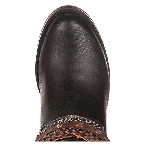 Durango Womens Chocolate Philly Accessorized Western Boot Round Toe - Drd0073 Black rG3Q5