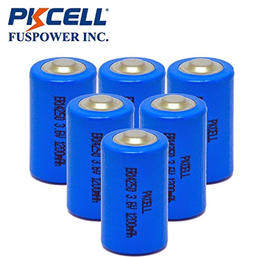 Aa Primary Lithium Battery - PKCELL Lithium Battery ER14250 3.6V 1200mAH 1/2 AA Primary Lithium Thionyl Chloride Batteries Pack 6 PCS