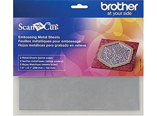 Brother ScanNCut Embossing Silver Metal Sheets by ScanNCut