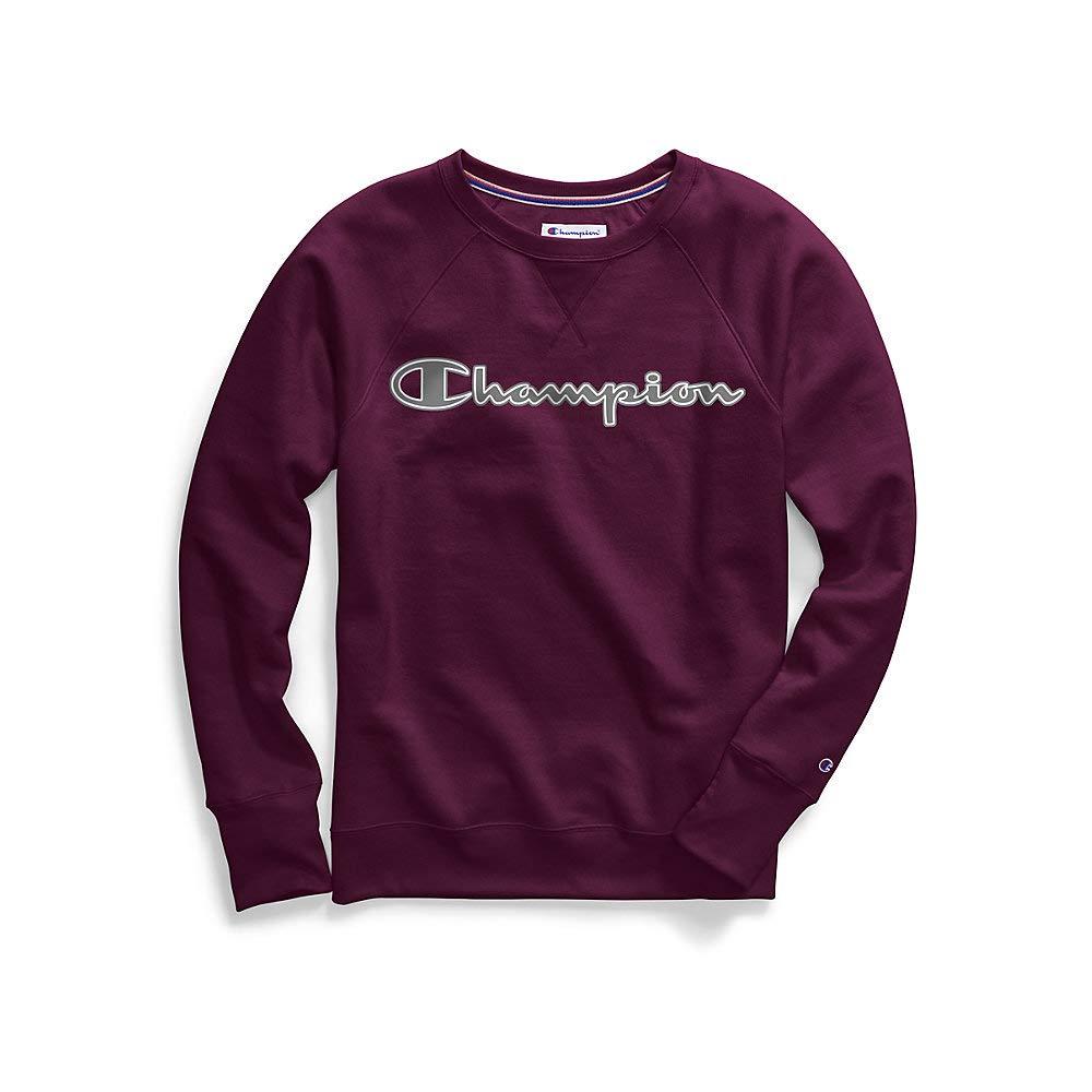 Champion Womens Powerblend Boyfriend Crew Sweatshirt