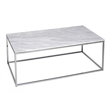 Gillmore Space Weissem Marmor Und Silber Metall