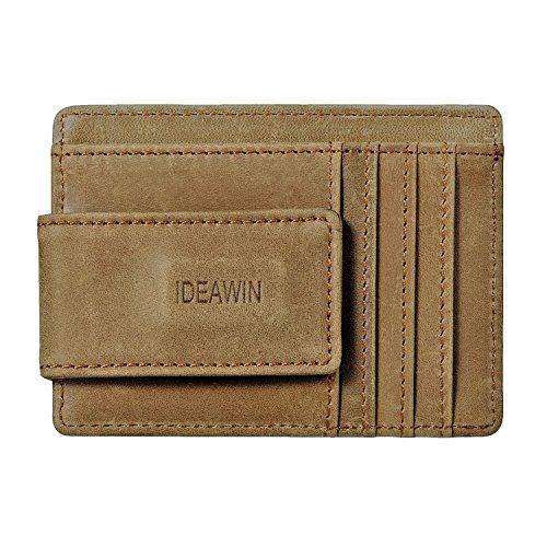 IDEAWIN RFID blocking Minimalist Front Pocket Wallet Powerful Magnets Money Clip