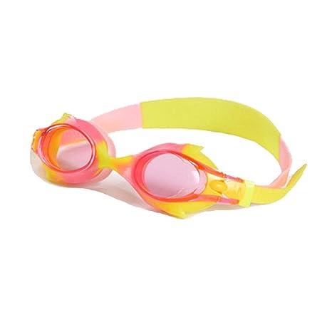 Kids Adjustable Swimming Goggles Anti Fog UV Protection Adjustable Strap