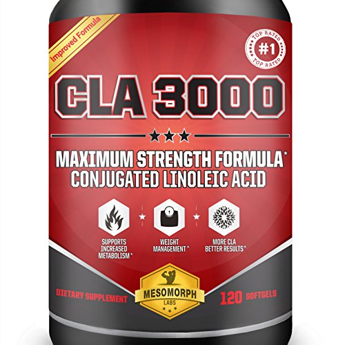 CLA-3000mg-Per-Serving-Maximum-Potency-Conjugated-Linoleic-Acid-CLA-Safflower-Oil-In-CLA-Weight-Loss-Supplements-100-Money-Back-Guarantee-Made-In-The-USA-120-Softgels