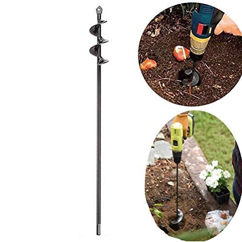 [해외]TureLaugh 오거 드릴 비트 강철 원예 지구 오거 홀 디거 침구 전구 묘목 / SuperThinker Auger Drill Bit, Steel Gardening Earth Auger Hole Digger for Planting Bedding, Bulbs, Seedlings (1.6x17.5)