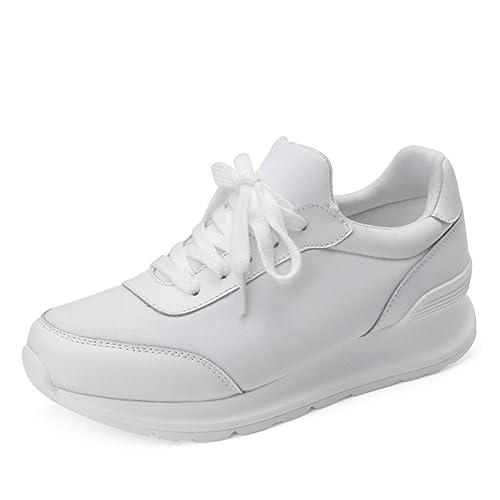 Corea Ocio Zapatos De Deporte En La Primavera,Zapatos De Plataforma De Espesar,Zapatillas,Manoletinas,Zapatos Blanco Forrest Gump: Amazon.es: Zapatos y ...