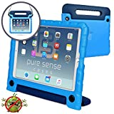 (US) Pure Sense Buddy [Anti-Microbial Kids Case] Child Proof case for iPad Pro 10.5-inch | Rugged Cover: Stand, Handle, Shoulder Strap | A1701 A1709 (Blue)