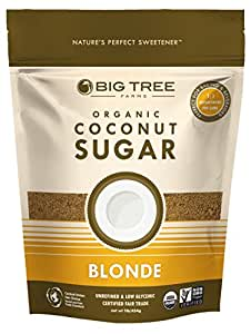 Big Tree Farms Organic Coconut Sugar, Blonde, 16-Ounce Pouches (Pack of 6)
