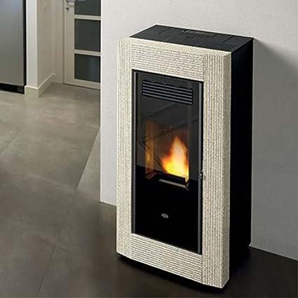 Estufa de pellets Eva calor Borrar 13 kW, Serpentino
