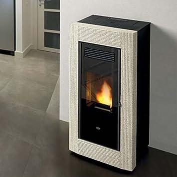 Estufa de pellets Eva calor Borrar 13 kW, pizarra italiana: Amazon.es: Hogar