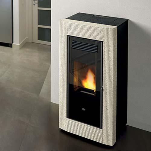 Estufa de pellets Eva calor Borrar 13 kW, Limestone Rigato: Amazon.es: Hogar